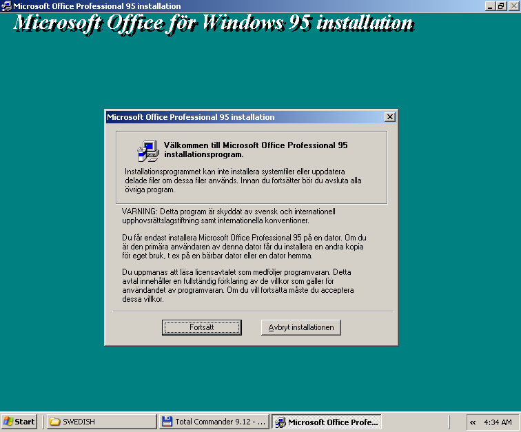 OFFER] Office Professional for Windows 95 in 15 languages — WinWorld