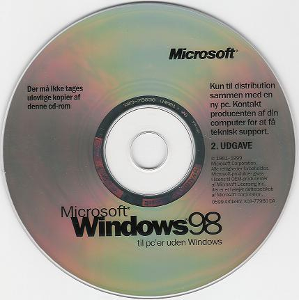 REQUEST] Windows 98 Second Edition and Windows ME (Danish
