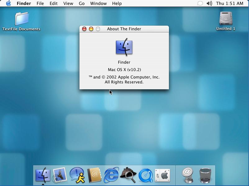 Mac Os X 1 02 — WinWorld
