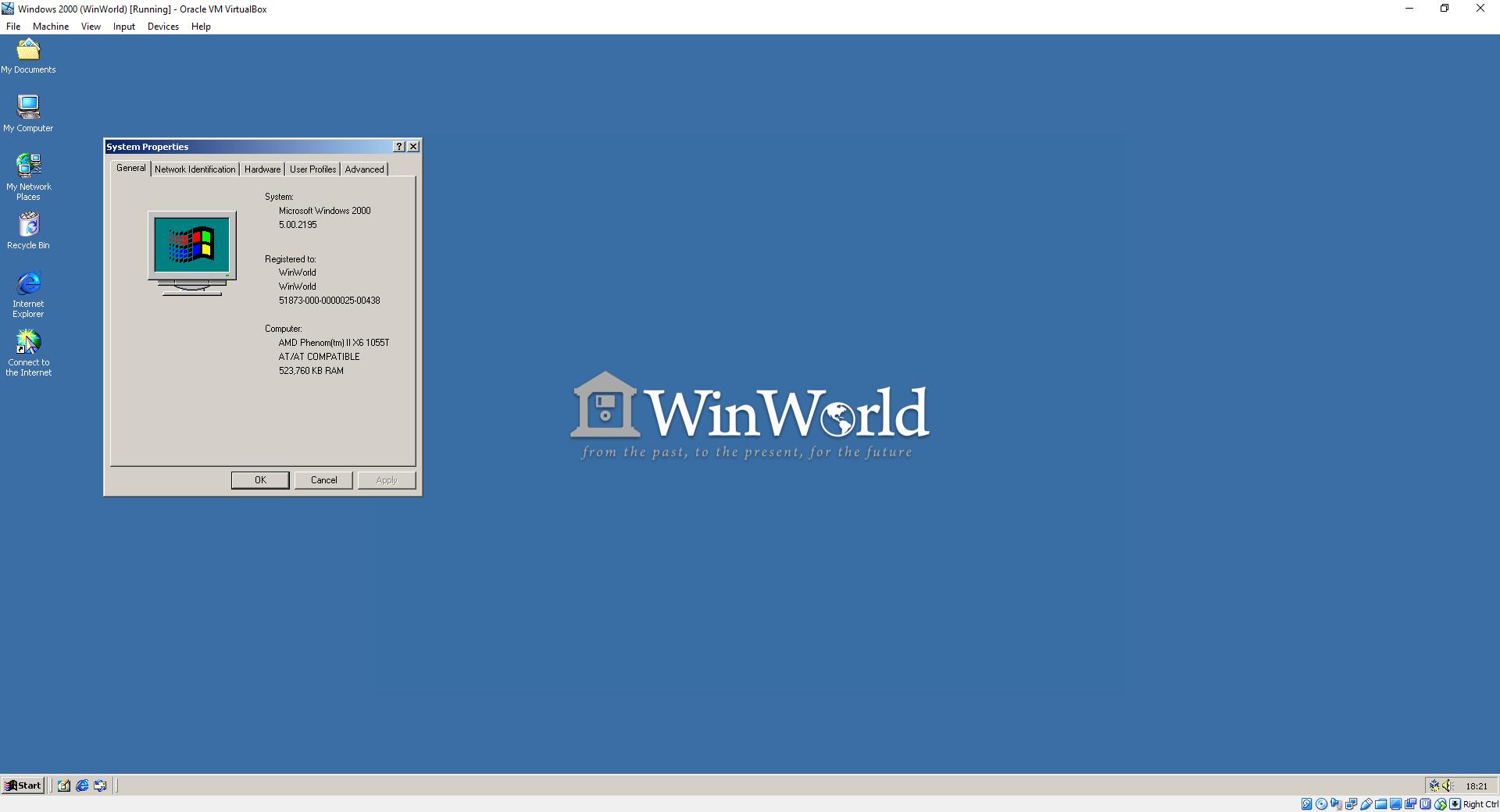 Windows 2000 VM for Virtualbox — WinWorld