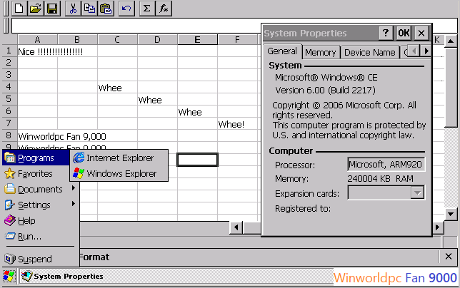 REQUEST] Windows CE 3 0 Professional Edition — WinWorld